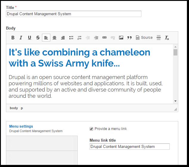 Drupal Content Management System Web Development In Madison Wi